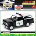 1980 - Ford Bronco Patrol Preto - Johnny Lightning - 1/64