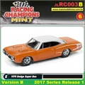 1970 - Dodge Super Bee Laranja - Johnny Lightning - 1/64