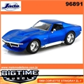 1969 - CORVETTE STINGRAY ZL-1 Azul - Jada - 1/24