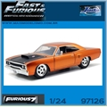 Furious 7 - 1970 Doms Plymouth ROAD RUNNER - Jada - 1/24