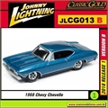 1969 - Chevy Chevelle SS Azul - Johnny Lightning - 1/64