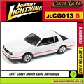 1987 - Chevy Monte Carlo Aerocoupe - Johnny Lightning - 1/64