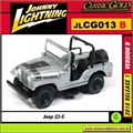 Jeep CJ-5 Prata - Johnny Lightning - 1/64