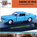 1965 - Ford MUSTANG GT 2 2 Fastback R32 Azul - M2M - 1/64