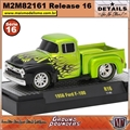 1956 - Ford F-100 R16 Verde - M2 Machines - 1/64