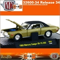 1968 - Mercury Cougar XR-7G 390 R34 Dourado - M2 Machines - 1/64