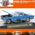 1965 - Ford MUSTANG GT 2 2 Fastback R35 Azul - M2M - 1/64