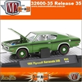 1969 - Plymouth BARRACUDA 340 R35 Verde - M2 Machines - 1/64