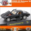 1966 - Chevrolet CORVETTE 327 R35 Preto - M2 Machines - 1/64