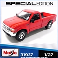 1999 - Ford F-350 SUPER Duty Pickup Vermelha - Maisto - 1/27