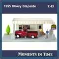 1955 - Diorama CHEVY STEPSIDE - Motormax - 1/43