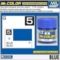 Tinta Gunze Acrílica Mr Color C  5 AZUL Brilho - 10ml