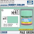 Tinta Gunze Acrílica H 41 VERDE PALE Brilho - Mr Hobby - 10ml