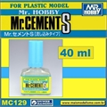 Cola Líquida c/Pincel Mr CEMENT S MC129 - Mr Hobby - 40ml