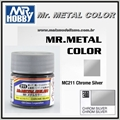 Tinta Gunze Mr Metal Color MC211 PRATA CROMADA Metálico - 10ml