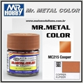 Tinta Gunze Mr Metal Color MC215 COBRE Metálico - 10ml