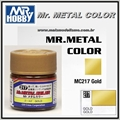 Tinta Gunze Mr Metal Color MC217 OURO Metálico - 10ml