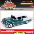 1955 - Chevy Bel Air Verde/Branco - Johnny Lightning - 1/64