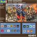 WWI Infantry - German / British / French (1914) - Revell - 1/35