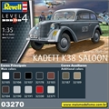 German Staff Car KADETT K38 Saloon - Revell - 1/35
