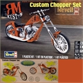Moto CUSTOM CHOPPER Set - Revell - 1/12