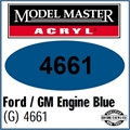 Tinta Model Master 4661 Acryl AZUL MOTOR FORD/GM BRILHO - 14,7ml