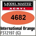Tinta Model Master 4682 Acryl LARANJA INTERNATIONAL Brilho FS12197 - 14,7ml