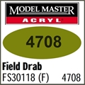Tinta Model Master 4708 Acryl VERDE CAMPO DRAB FOSCO FS30118 - 14,7ml