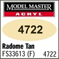 Tinta Model Master 4722 Acryl TAN RADOME FOSCO FS33613 - 14,7ml