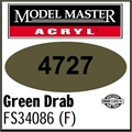 Tinta Model Master 4727 Acryl VERDE DRAB FOSCO FS34086 - 14,7ml