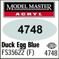Tinta Model Master 4748 Acryl AZUL DUCK EGG Fosco FS35622 - 14,7ml