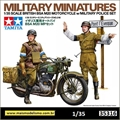 British BSA M20 Motorcycle w/Military Police Set - Tamiya - 1/35