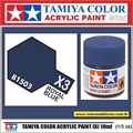 Tinta Acrílica Tamiya Mini X- 3 - AZUL ROYAL BRILHO - 10ml