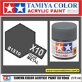 Tinta Acrílica Tamiya Mini X-10 - GUN METAL - 10ml