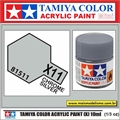 Tinta Acrílica Tamiya Mini X-11 - CHROME SILVER - 10ml