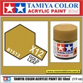 Tinta Acrílica Tamiya Mini X-12 - GOLD LEAF - 10ml