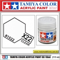 Tinta Acrílica Tamiya Mini X-22 - CLEAR Brilho - 10ml