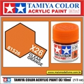 Tinta Acrílica Tamiya Mini X-26 - CLEAR ORANGE - 10ml