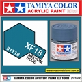 Tinta Acrílica Tamiya Mini XF-18 - MEDIUM BLUE Fosco - 10ml