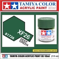 Tinta Acrílica Tamiya Mini XF-26 - DEEP GREEN Fosco - 10ml