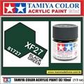 Tinta Acrílica Tamiya Mini XF-27 - BLACK GREEN Fosco - 10ml
