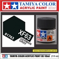 Tinta Acrílica Tamiya Mini XF-63 - GERMAN GREY Fosco - 10ml