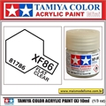 Tinta Acrílica Tamiya Mini XF-86 - FLAT CLEAR - 10ml