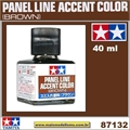 PANEL LINE Accent Color MARROM (Brown) - Tamiya 87132