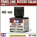 PANEL LINE Accent Color MARROM ESCURO (Dark Brown) - Tamiya 87140