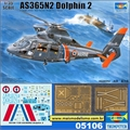 Helicóptero AS365 N2 Dolphin - Trumpeter - 1/35