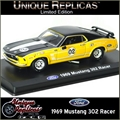 1969 - FORD MUSTANG 302 Racer 02 Amarelo - Unique - 1/38