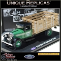 1934 - BB-157 Caminhão FORD STAKE BED Verde - Unique - 1/43