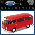 Volkswagen VW KOMBI 1972 Vermelha - Welly - 1/24