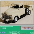 1953 - Chevrolet 3100 Pickup Creme - Welly - 1/24